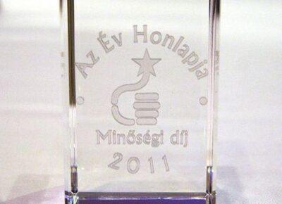 Minőségi díjat nyert honlapunk